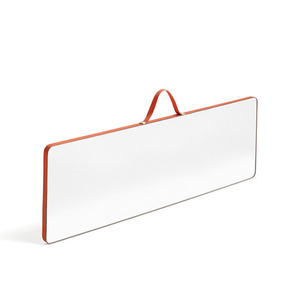 Ruban mirror rectangular L red
