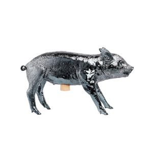 Bank In The Form Of A PigGun Metal Chrome