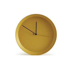 Dish Clock_Yellow