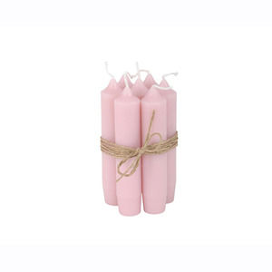 Short Dinner Candle_L.pink1pcs