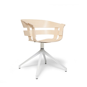 Wick Chair with swivellegs ash/off white
