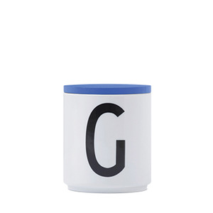 AJ Cup with Lid Blue A~Z
