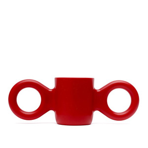 Dombo design cup, dark red