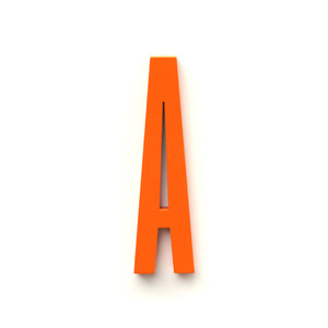 Original Design Letter Orange