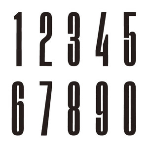 Outdoor Numbers Acrylic black
