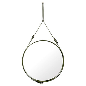 Adnet Circulaire Mirror Olive 70cm