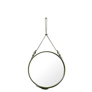 Adnet Circulaire Mirror Olive 58cm