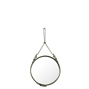 Adnet Circulaire Mirror Olive 45cm