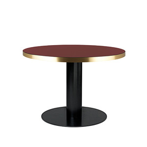 GUBI 2.0 Round table Glass cherry red/Black 주문 후 4개월 소요