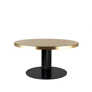 GUBI 2.0 Round table Glass sand/Black 주문 후 4개월 소요