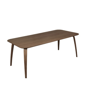 GUBI Dining Table Rectangular W200 ,Walnut