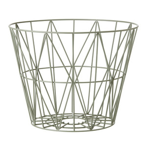 Wire Basket Large Dusty Green
