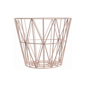 Wire Basket Small Rose
