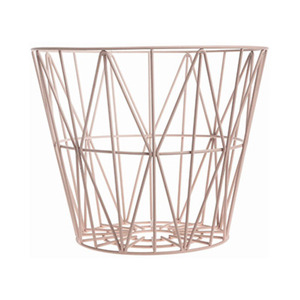 Wire Basket Medium Rose