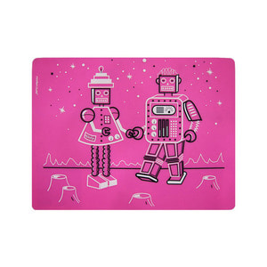 Kids Placemat Robot Love-Cotton Candy 30.5 x 40.5cm