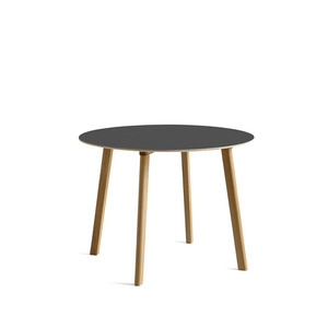 Copenhague DEUX oak lacquer table CPH220 Ø98 x H73 cm 5 colors