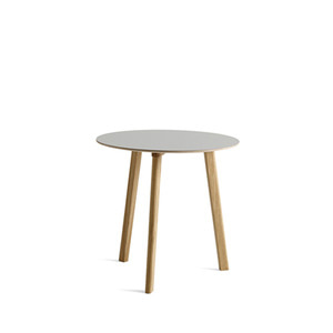 Copenhague DEUX oak lacquer table CPH220 Ø75 x H73 cm 5 colors