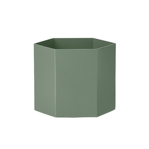 Hexagon Pot L Dusty Green