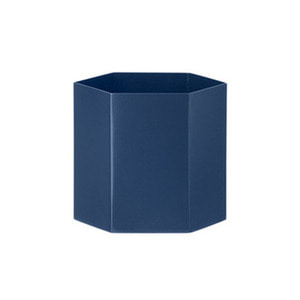 Hexagon Pot L Blue