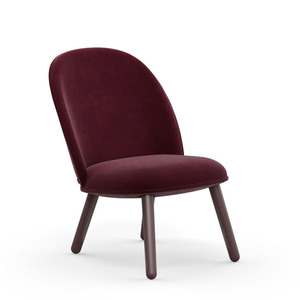 Ace lounge chair Velour dark red