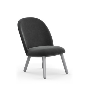 Ace lounge chair Velour grey