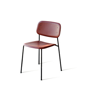 Soft Edge 10  Fall Red Seat  Black Steel Legs