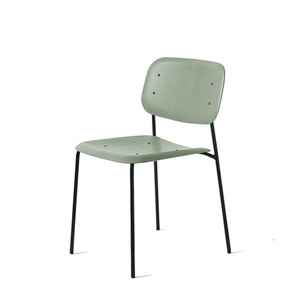 Soft Edge 10  Dusty Green Seat   Black Steel Legs