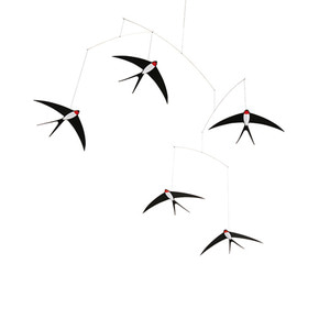Five Flying Swallows