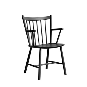 J42 Chair FDB Solid Beech  Black