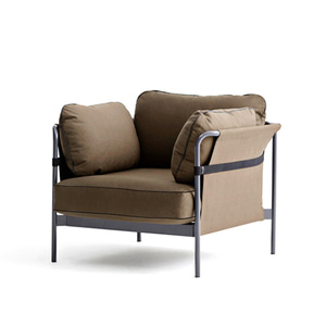 CAN Sofa 1 seater  Charcoal frame/Army Canvas/Army  Canvas