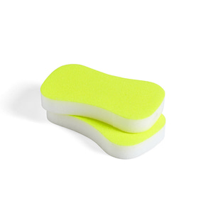 Neon Sponge Set of 2 Fluorescent Yellow