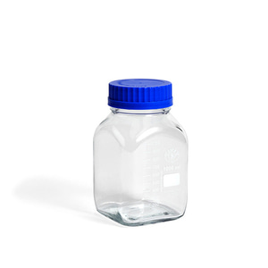 Laboratory Glass Square L  (1000 ML) Blue