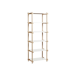 Woody Column High 1*6 oak/white 6 shelving