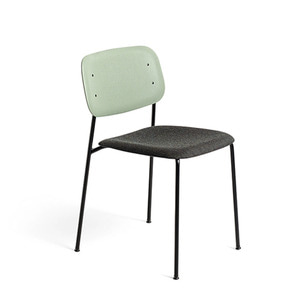 Soft Edge 10 Upholstery Dusty Green Back/Remix#973 Seat Black Steel Legs 주문 후 6개월 소요