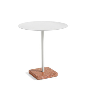 Terrazzo Table  Light grey round top 주문 후 3개월 소요