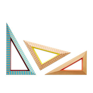 Wooden Ruler Triangle 컬러 랜덤발송