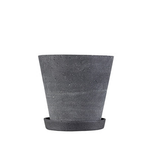 Flower Pot with Saucer, Large 4 colors