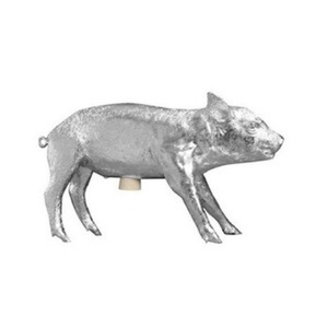 Limited Edition  Bank In The Form Of A Pig Silver Chrome