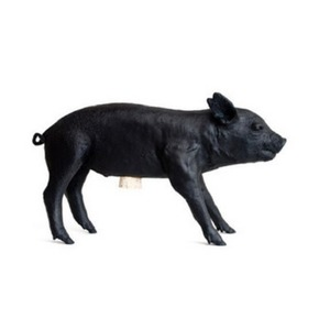 Bank In The Form Of A Pig Black Matte