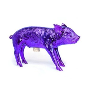 Limited Edition  Bank In The Form Of A Pig Orchid Chrome