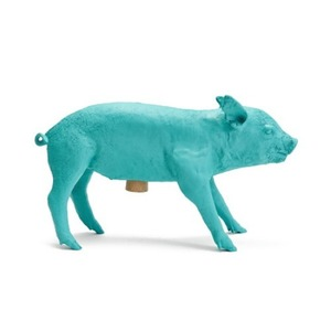 Bank In The Form Of A Pig Matte Teal