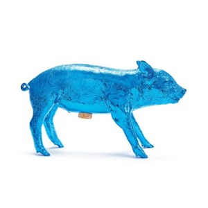 Bank In The Form Of A Pig Electric Blue