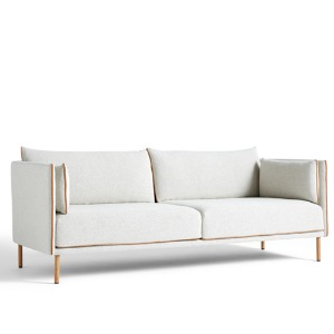 Silhouette Sofa 3 Seater 2 colors  Mono Cognac Leather Piping/Oiled Oak Leg 주문 후 6개월 소요