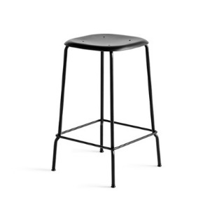 Soft Edge P30 Bar Stool H65 Black Steel Legs 5 colors