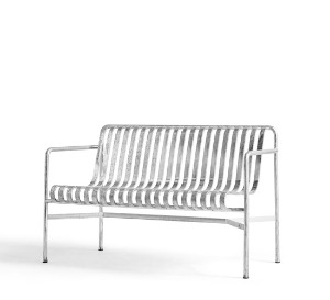 Palissade Dining Bench  Hot Galvanized