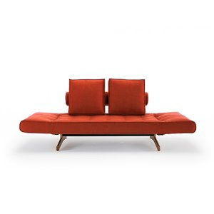 Ghia Sofa Bed #506 Paprika/ Wood