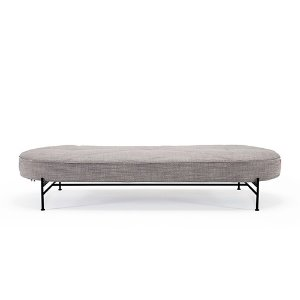Linna Daybed  #613 Linen Ash Grey/ Matt Black Steel