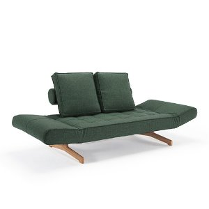 Ghia Sofa Bed #518 Green/ Wood