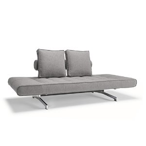 Ghia Sofa Bed #217 Light grey/ Chrome
