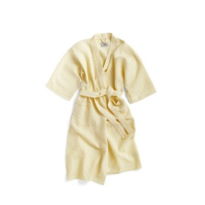 Waffle Bathrobe Soft Yellow